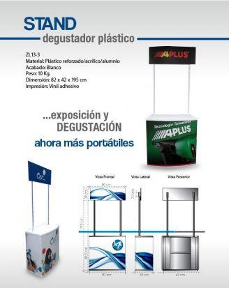 stand degustador plastico