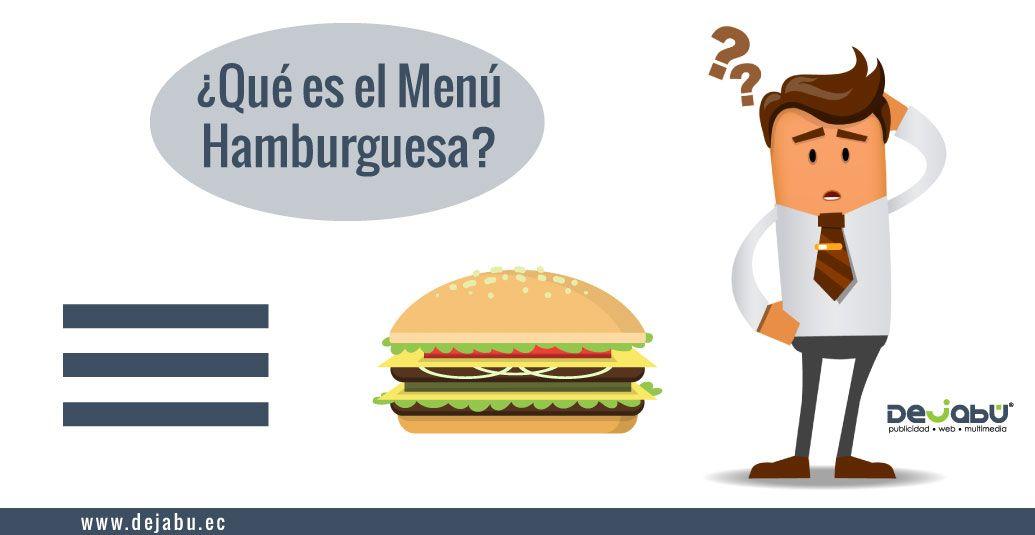 ¿Qué es un Menú Hamburguesa?
