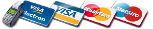Tarjetas VISA, MASTERCARD, DINERS, MAESTRO, DISCOVERY, AMERICAN EXPRESS